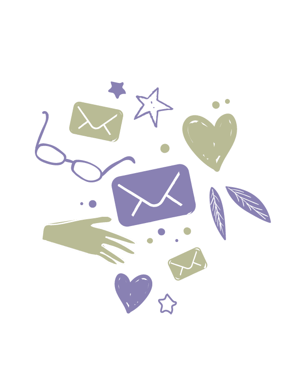 Floral and email graphics